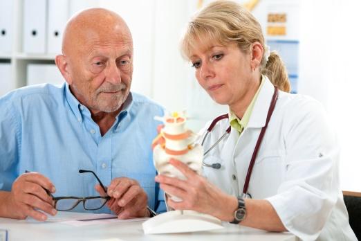Patient in der Arztpraxis